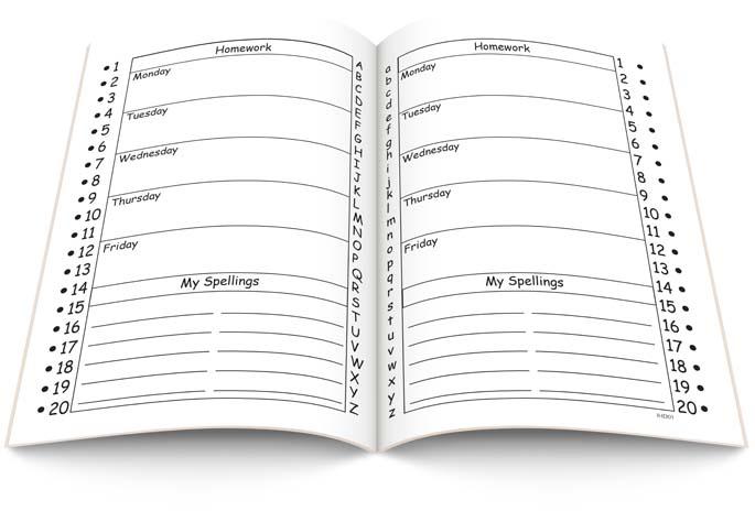 Infant Homework Diary (10 Pk) - Direct ED